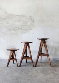 PIECE ROUND STOOL & BAR STOOL by TAKE HOME DESIGN at Coroflot.com