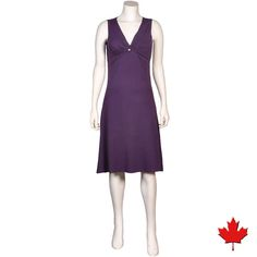 Made in Canada Sale! Women's Bamboo V-Neck Dress