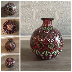 Hey, I found this really awesome Etsy listing at https://www.etsy.com/listing/557165402/red-christmas-dot-mandala-bud-vase