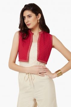 MAX Embroidered Cropped Shrug