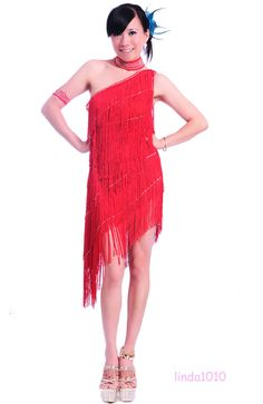 Belly Dance Costume Latin salsa tango Cha Cha Ballroom Flamenco dress 8 colors #Unbranded