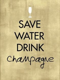 There's never a bad time to have champagne.