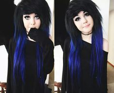 Most current Free of Charge Scene Hair styles Ideas Discovering landscape hairstyles which are cool however, not cliche can be difficult, to a certain Dye My Hair, Emo Hair Color, Hair Colors, Style Emo, Pelo Emo, Cute Emo Girls, Emo Scene Hair, Black Scene Hair, Corte Y Color