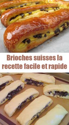 Today I offer you the recipe for Swiss brioches, small very soft brioches garnished with pastry cream and chocolate chips, a real delight for afternoon tea or breakfast! Crepe Recipes, Dessert Recipes, Desserts With Biscuits, Food Porn, International Recipes, Quick Easy Meals, Sweet Recipes, Brunch, Food And Drink