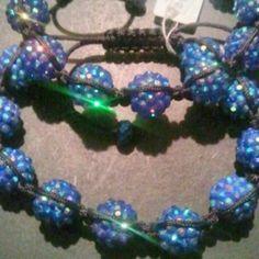 New Draw String Beaded Friendship Bracelet In Blue  #shopsmall BUY NOW $10.00