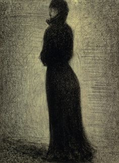 Woman in White and Black, 1882, Georges Seurat