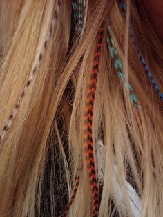feathers in hair