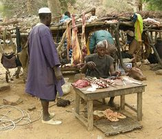 The meat seller, Mali