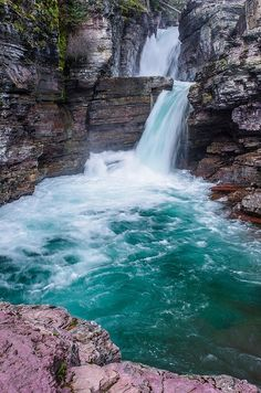 Thundering, St. Mary's  Falls, Montana