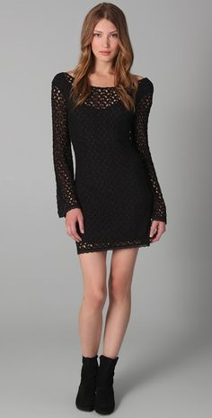 I have this in navy blue. I wear it with grey knee high boots and a delicate gold head wreath. Sweet and sexy