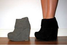Thooose are cute...i need some gray wedges!