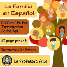 Spanish Family UNIT, La Familia, Stations / Differentiated Instruction, lessons for Spanish students, La Profesora Frida, The Stress Free Spanish Teacher, TeachersPayTeachers