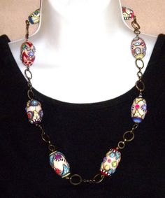 Barrel beads necklace