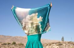 Landscapes Collection Desert Clouds Scarf by DESERTSandLAKES, $100.00