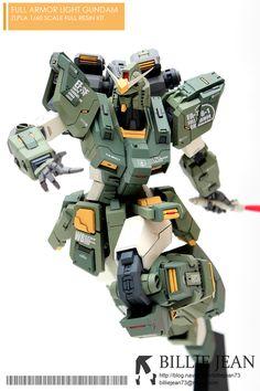 GUNDAM GUY: [Zlpla] 1/60 Full Armor Light Gundam Resin Kit - Painted Build