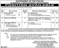 Planning and Development Department , Govt of The Punjab Jobs