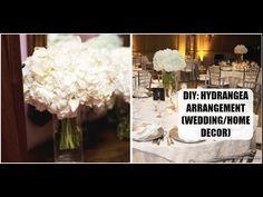 DIY: Hydrangea Flower Arrangement (Home Decor | Wedding DIY) - YouTube
