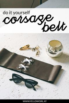 Diy Belts, Diy Accessories, Diy Fashion, Sunglasses Case, How To Find Out, Initials, Cufflinks, Designs, Outfit