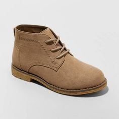 Boys' Hadrian Chukka Boots - Cat & Jack™ Tan 1 : Target Brown Chinos, Toddler Boots, Block Heel Boots, Cat And Jack, Shoe Closet, Boys Closet, Childrens Shoes, Boys Shoes, Boy Outfits