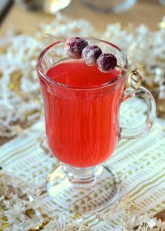 Red Rum Hot Toddy 1 oz spiced rum 1/2 oz bourbon 1/2 oz brandy 1 oz lemon juice 3/4 oz cranberry syrup 1/4 oz honey syrup 3-oz boiling water
