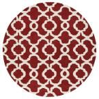 Revolution Red 11 ft. 9 in. x 11 ft. 9 in. Round Area Rug