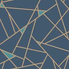 Prismatic York Wallpaper Wallpaper York Wallcoverings Blues Gold Geometric Wallpaper Metallic Wallpaper Sure Strip, Sure Strip, Easy to clean , Easy to wash, Easy to strip Stripped Wallpaper, Metallic Wallpaper, Modern Wallpaper, Wallpaper Roll, Designer Wallpaper, Pattern Wallpaper, Blue And Gold Wallpaper, Geometric Wallpaper Dining Room, Moroccan Wallpaper