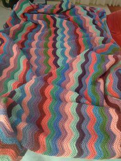 Ripple Rug WIP 3 by craftycarla, via Flickr