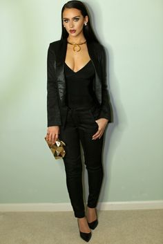 All Black Suit | Holiday Outfit Ideas | the Fashion Bybel