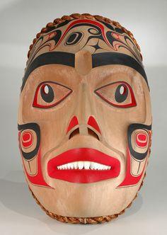Ditidhat Eagle Mask by William Kuhnley, Nuu-chah-nulth (Ditidaht) artist… Woodlands School, Eagle Mask, Native American Artwork, Inuit Art, Tlingit, Cool Masks, Canadian Art, Indigenous Art, West Side