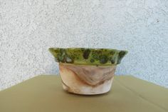 ceramic pot planter scalloped planter pottery by MyVintageAngels, $18.00