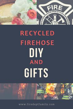 Do a solid for the environment and check out these up cycled things you can do with firehose! From decorations to fun gifts, fire hose gets a second chance at life. Firefighter Training, Firefighter Family, Firefighter Wedding, Wildland Firefighter, Firefighter Gifts, Volunteer Firefighter, Firefighters, Fire Hose Crafts, Paramedics