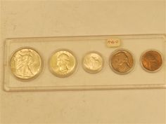 1946 D US Silver Mint Coin Set  Featured in the US Coins Auction on July 25, 2013 HamptonAuction.com