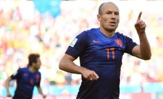 Netherlands Tops Australia 3-2 In Unexpectedly Wild World Cup Clash - Netherlands' forward Arjen Robben celebrates after scoring during a Group B football match between Australia and the Netherlands at the Beira-Rio Stadium in Porto Alegre during the 2014 FIFA World Cup on June 18, 2014. AFP PHOTO / WILLIAM WEST (Photo credit should read WILLIAM WEST/AFP/Getty Images)