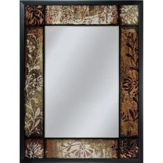 Deco Mirror 25 in. x 33 in. Bronze Patchwork Mirror in Black-6248 at The Home Depot