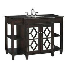 Give your bath decor a fun, sophisticated look with the Reflections Bath Vanity. This contemporary bath vanity makes displaying home accents or storing extra toiletries a breeze.