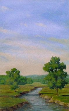 The Creek - oil sketch Painting by Paul Keysar
