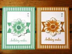 Peanuts and Peppers Papercrafting: Make It Monday - Stampin' Up! Beautiful Bunch Convention Swap Card (#inspirecreateshare2015)