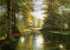 LANDSCAPE OIL PAINTING, BY UNKNOWN