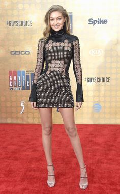 """Gigi Hadid from Spike TV's Guys Choice Awards 2016 The supermodel shows legs for days before accepting the """"Our New Girlfriend"""" award in her David Koma dress."""