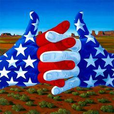 """America"" by Chuck Baird, deaf artist. His work really speaks. I love it"