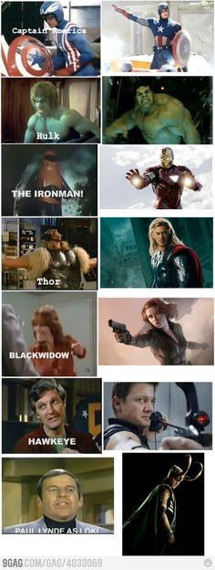Avengers before and now.
