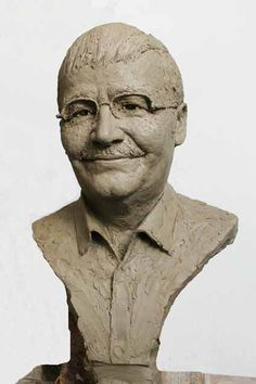 Aram Rudenski Billy Connolly, Camels, Bronze Sculpture, Statue, Portrait, Gallery, Art, Faces, Art Background