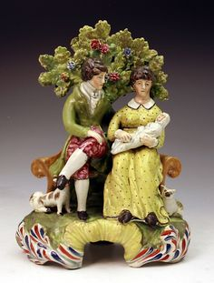 Staffordshire pottery figure of matrimony early 19th century