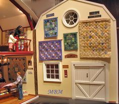 An Amish quilt shop in a red barn. | Dollshouse Miniatures ... : amish quilt shops - Adamdwight.com