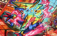 Is now in my shop as a print, coffee cups, and more! (Including a special design of ultra cool mega manetric as a shirt! Type Pokemon, Pokemon Fan Art, Satoshi Tajiri, Pokemon Universe, Mega Evolution, Pokemon Comics, Catch Em All, City Art, Iris