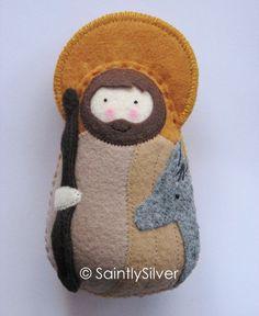 José Natividad fieltro a blando Saint por SaintlySilver en Etsy