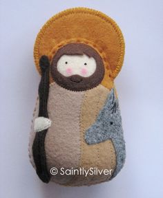 St. Joseph stuffie. Just need to figure out a Mary and baby Jesus and it would be a great Nativity scene idea