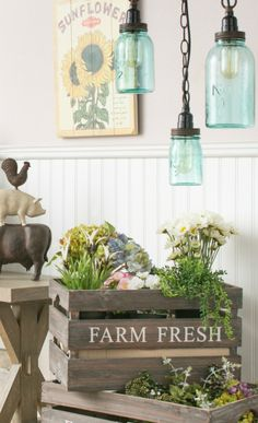 How to add a touch of the farmers market into your home decor!