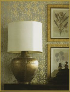 This beautiful gold metallic wallpaper is new from the Dynasty Foils Collection. Find it at AmericanBlinds.com