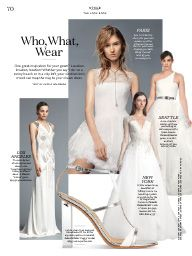 "I saw this in ""Who, What, Wear"" in Martha Stewart Weddings Summer 2015 Summer 2015."